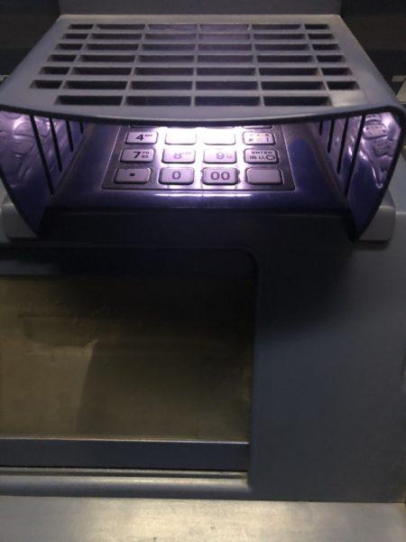 中国ATMの数字入力テンキー(海外キャッシング手順5-2)