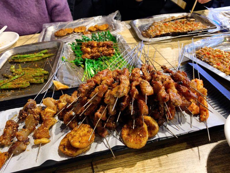 羊肉の串焼き(瀋陽観光スポット)