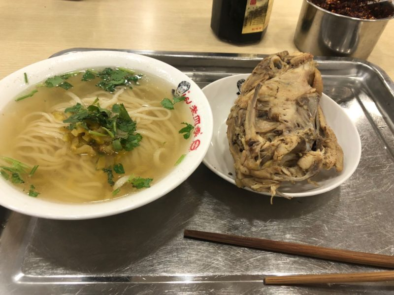 鶏架と鶏ラーメン(瀋陽観光スポット)