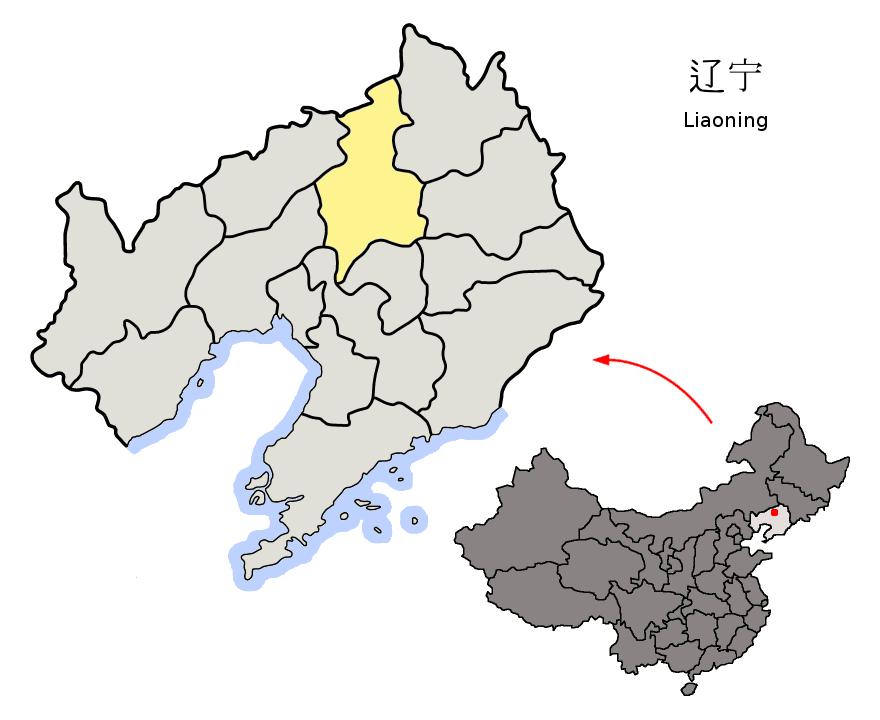 中国遼寧省瀋陽市の位置