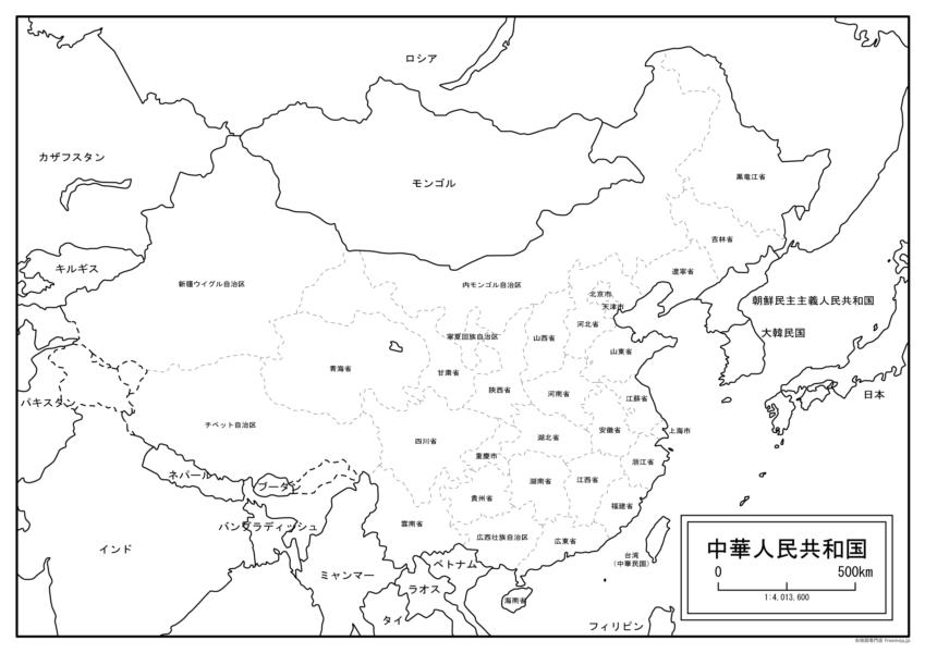 中国全体の地図